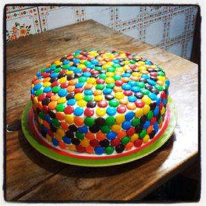 Torta arcoíris de Antie