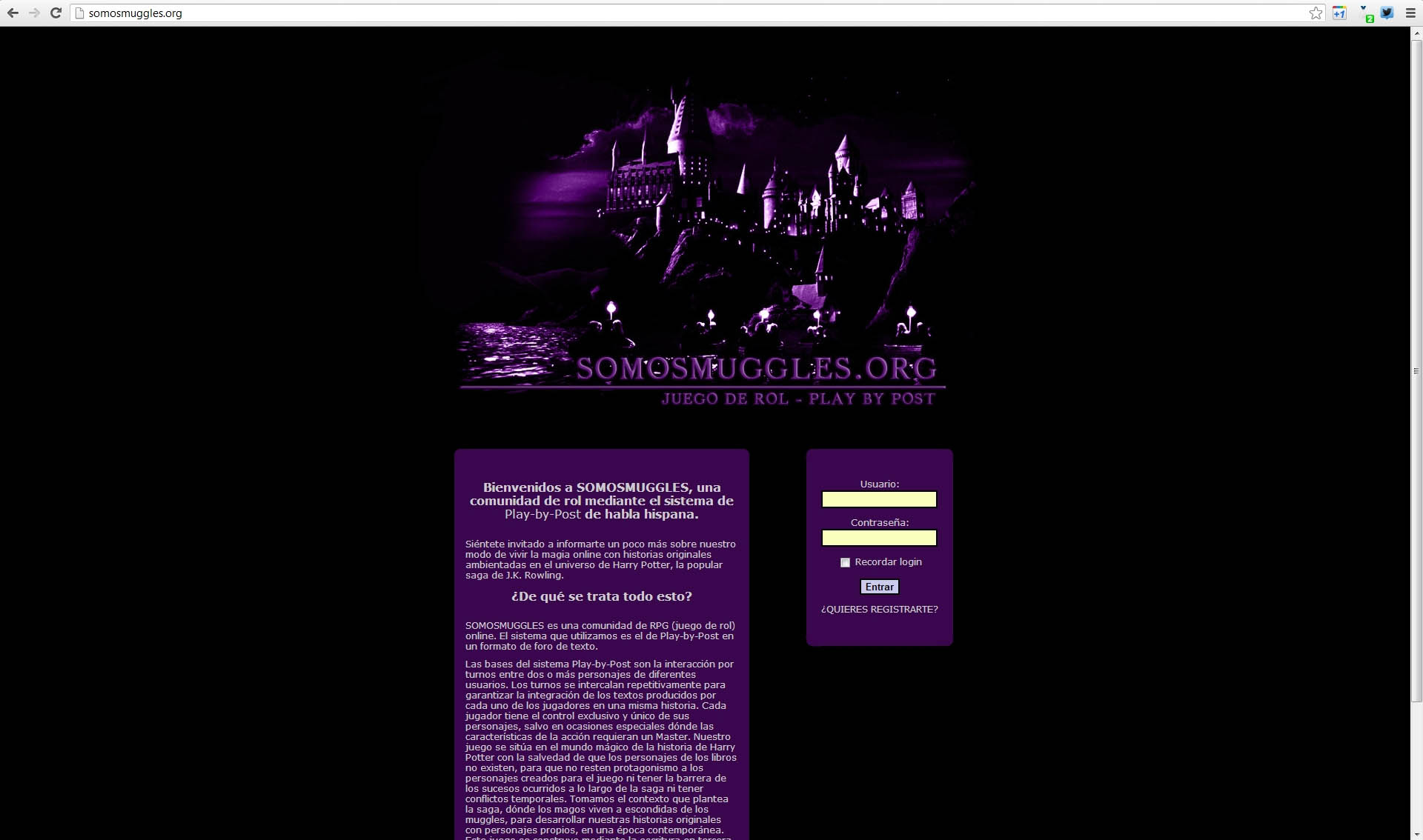 Captura de somosmuggles.org