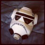 Máscara reciclada de Stormtrooper