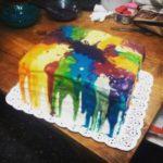 Cobertura de arcoiris derretido